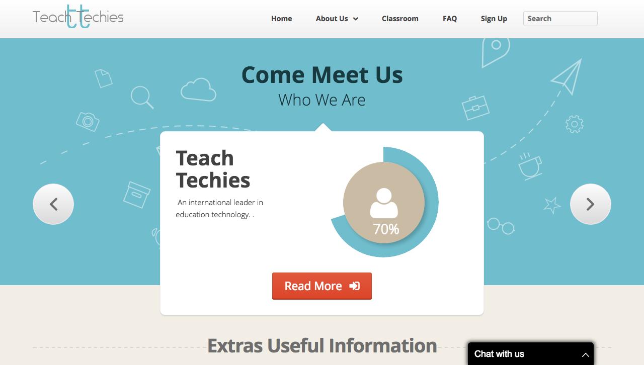 teachtechies site, porfolio, txtbased